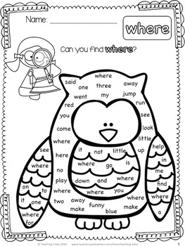 Winter Sight Word Free