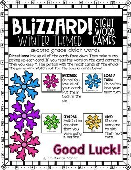 Winter Sight Word Game