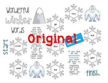 Winter Sight Word Game [Great for Centers!]
