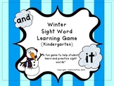 Winter Sight Word Game - Kindergarten