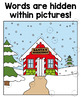 Winter Sight Word Game - Mystery Hunt - Editable