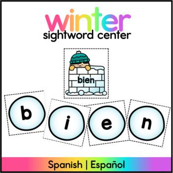Winter Sight Word Game - Spanish