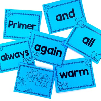 Winter Sight Word Game and Flash Cards (January)