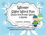 Winter Sight Word Games