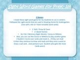 Winter Sight Word Games for PreK-K