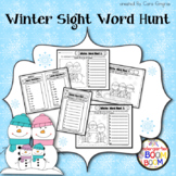 Winter Sight Word Hunt