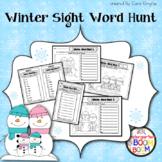 Winter Sight Word Hunt