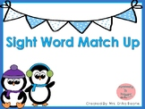 Winter Sight Word Match Up