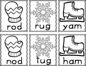 Winter Sight Word Game (Editable)