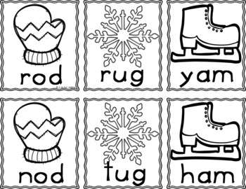 Winter Sight Word & CVC Word Games (Editable)