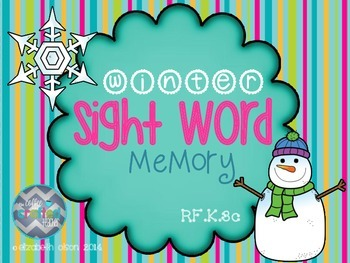 Winter Sight Word Memory