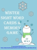 Winter Sight Word Memory Game