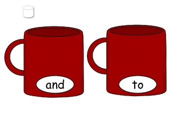 Winter Sight Word Mugs