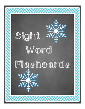 Winter Sight Word Packet