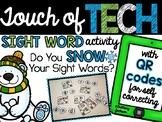 Winter Sight Word Practice with Audio QR Codes for Self-Co