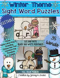 Winter Sight Word Puzzles EDITABLE
