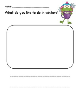 Winter Sight Word Reader: I like to go - CCSS Aligned - Kindergarten