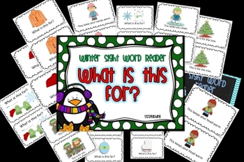 Winter Sight Word Reader (What is this for?)