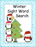 Winter Sight Word Search- 35 Dolch Words