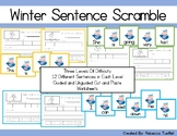 Sight Word Sentence Scramble Cards and Cut and Paste Works