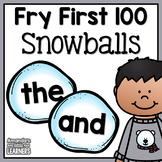 Winter Sight Word Snowballs - Editable