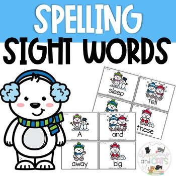 Winter Sight Word Spelling Review Game