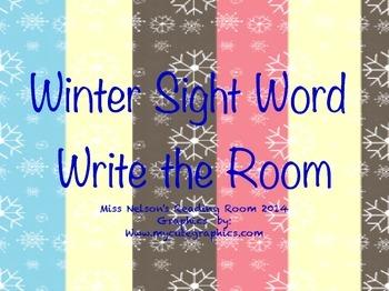 Winter Sight Word Write the Room