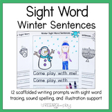 Winter Sight Word Writing Prompts Kindergarten