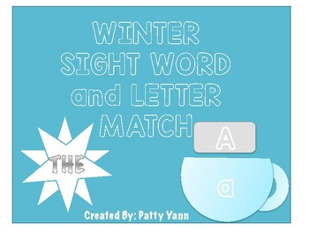 Winter Sight Word and Letter Match