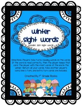 Winter Sight Words