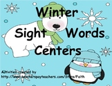 Winter Sight Words Centers