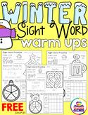 Winter Sight Words Freebie