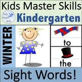 Winter Sight Words - Hands-On Activities (100 Sight Words)