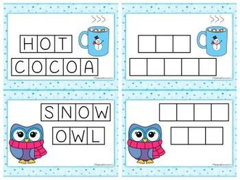 Winter Sight Words: Letter Tiles
