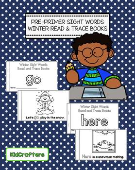 Winter Sight Words Read and Trace Books