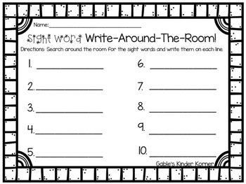 Winter Sight Words Write-Around-the-Room!