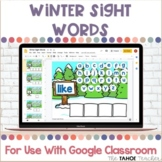 Winter Sight Words for Use With Google Classroom™