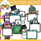 Signs for Winter Clip Art