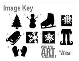Winter Silhouettes - Simple Mystery Grid Drawing Worksheets