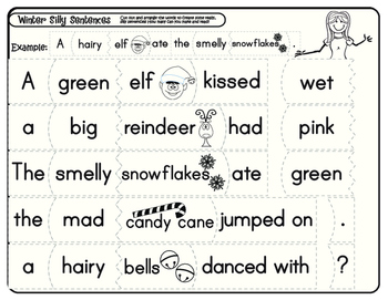 Winter Silly Sentences
