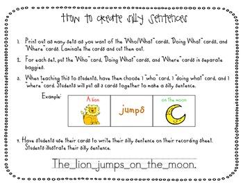 Winter Silly Sentences {3 part sentences}