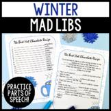 Winter Parts of Speech Silly Stories Grammar Activity