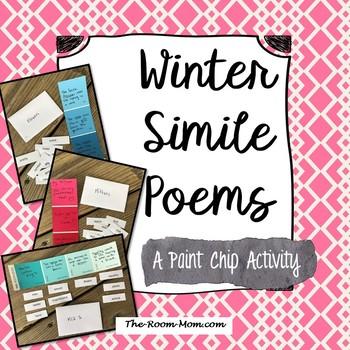 Winter Simile Poems (freebie)