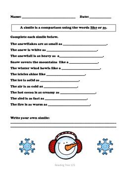 Winter Similes & Metaphors