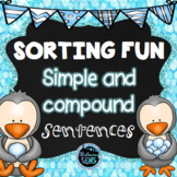 Winter Simple and Compound Sentences Sort - Winter Activity