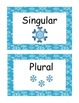 Winter Singular and Plural Noun Sort for Kindergarteners w