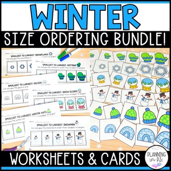 Winter Size Ordering Bundle From Smallest to Largest