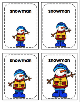 Winter Size Sequencing Cards (15 Sets)