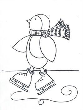 Winter Skating Penguin