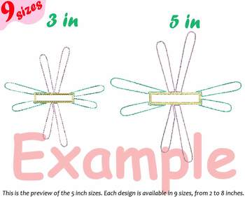 Winter Ski outline Designs for Embroidery Mountains circle split frame 179b
